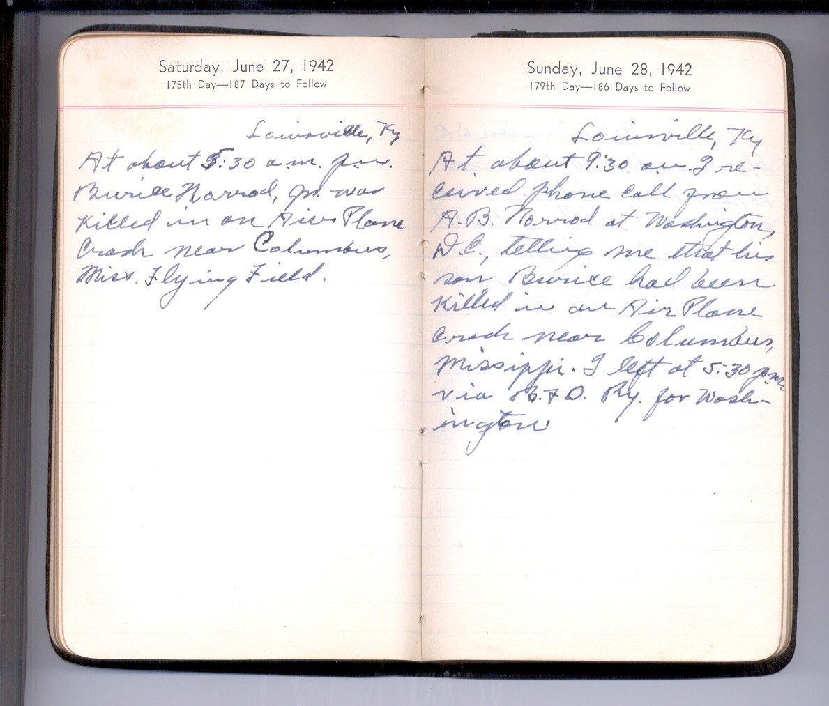 First Page of Diary